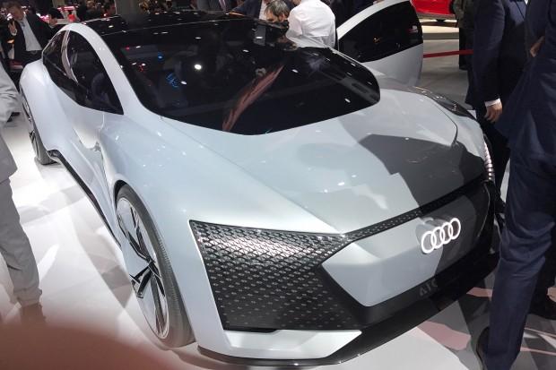 White Audi Aicon