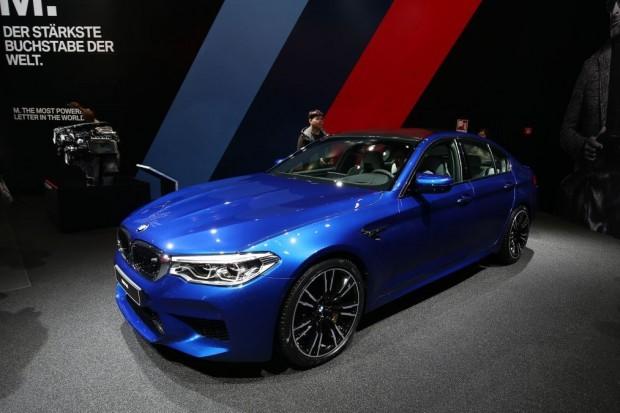 Blue BMW M5